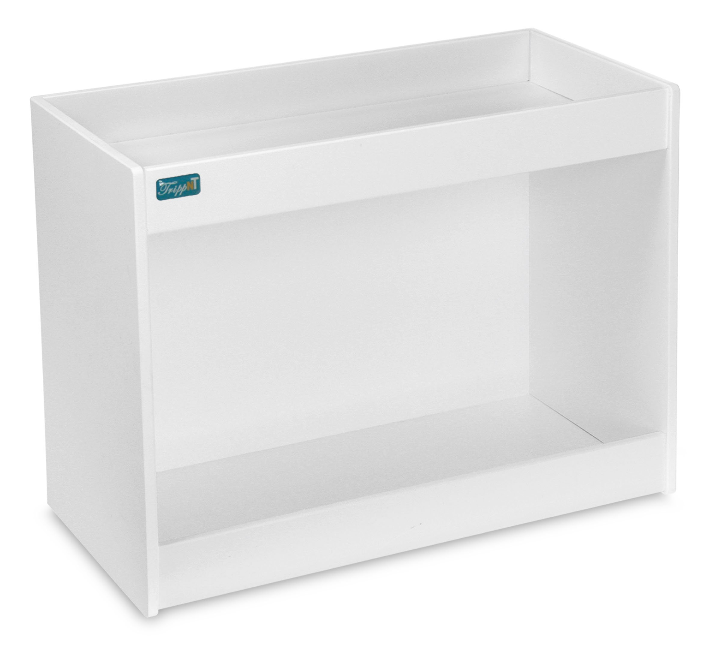 TrippNT 50441 PVC Straight Double Safety Shelves, 12'' Width x 10'' Height x 5'' Depth, White