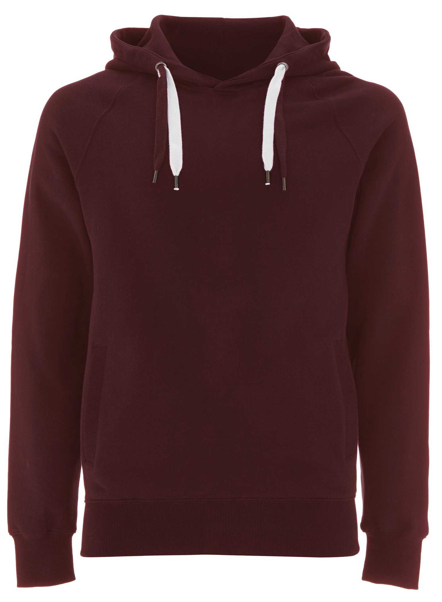 Claret Red Pullover Hoodie for Women - Medium - Womens Hooded Cotton Sweatshirt by Underhood of London