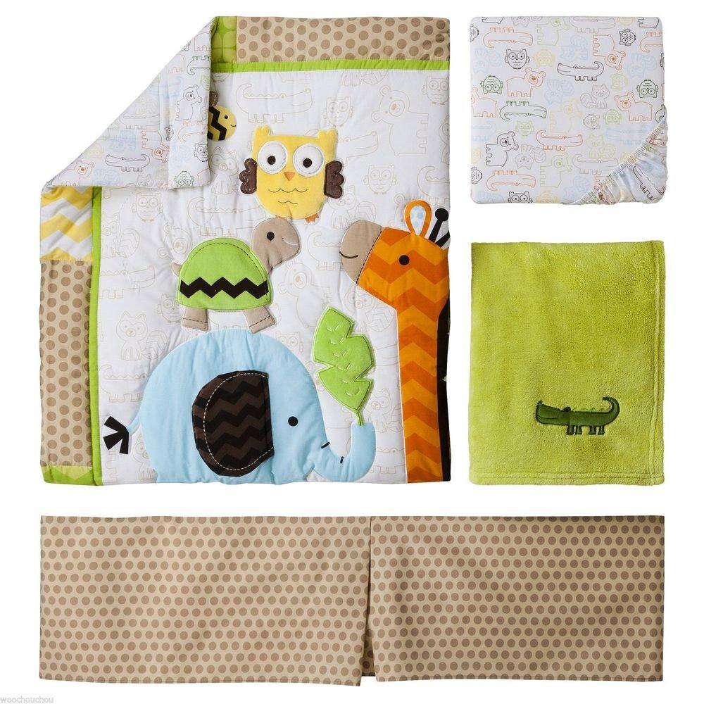 Amazoncom Circo Jungle Stack Piece Crib Nursery Set Neutral - Circo comic bedding set