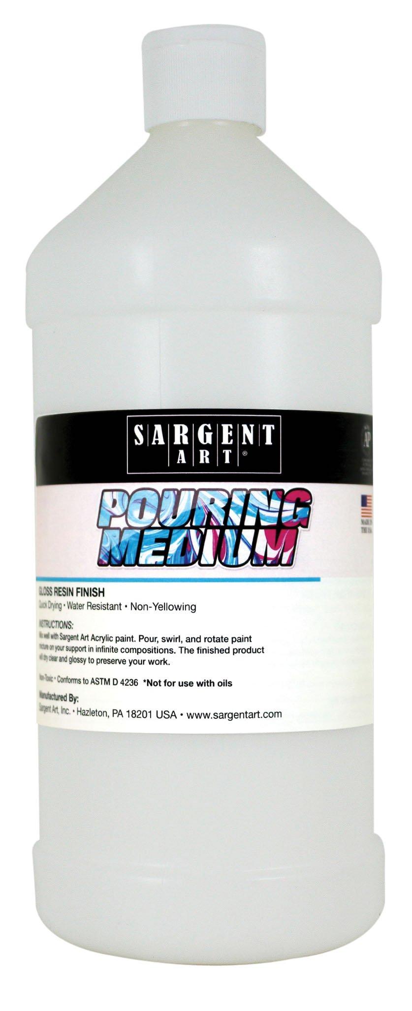Sargent Art 22-8826 Pouring Medium Acrylic, 32 oz