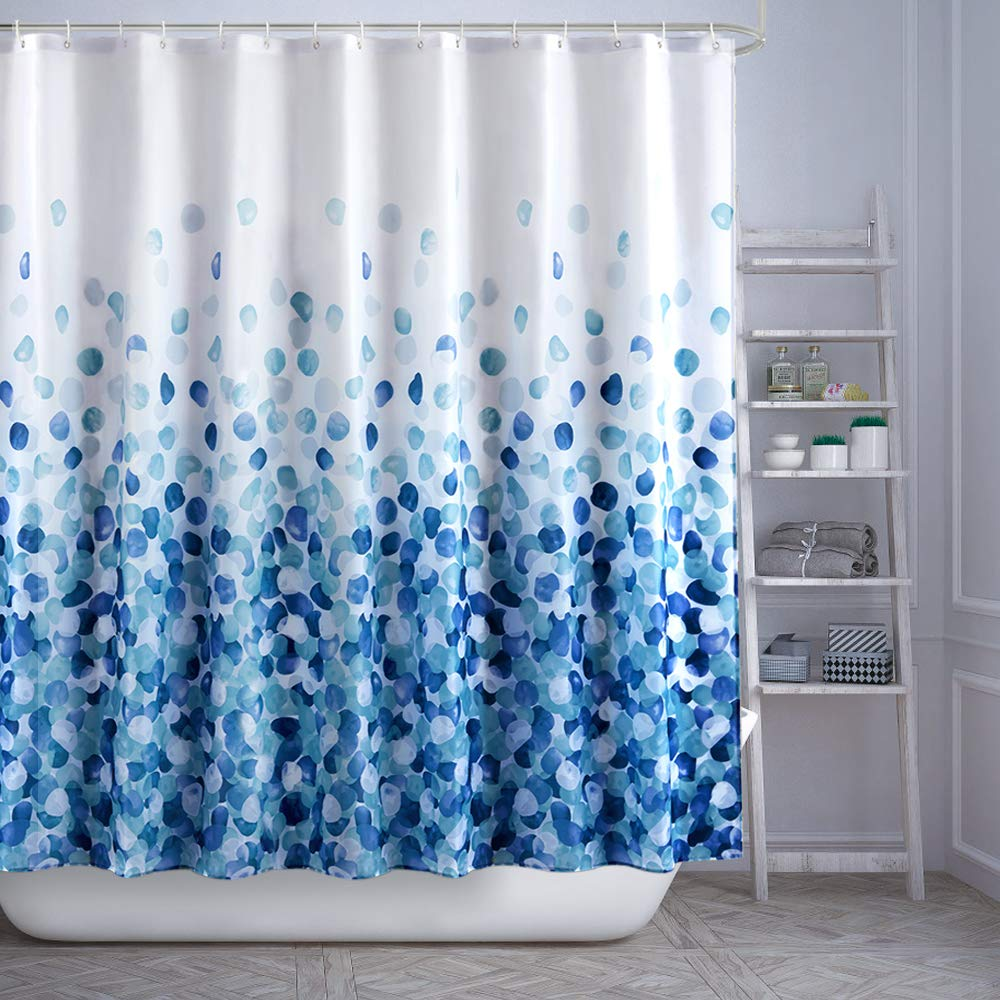 ARICHOMY Shower Curtain Set, Bathroom Fabric Curtains Waterproof Colorful Funny with Standard Size 72 by 72 (Blue) by ARICHOMY (Image #7)