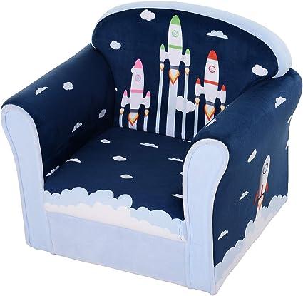 HOMCOM Children's Armchair Flannel Kids Sofa Tub Chair