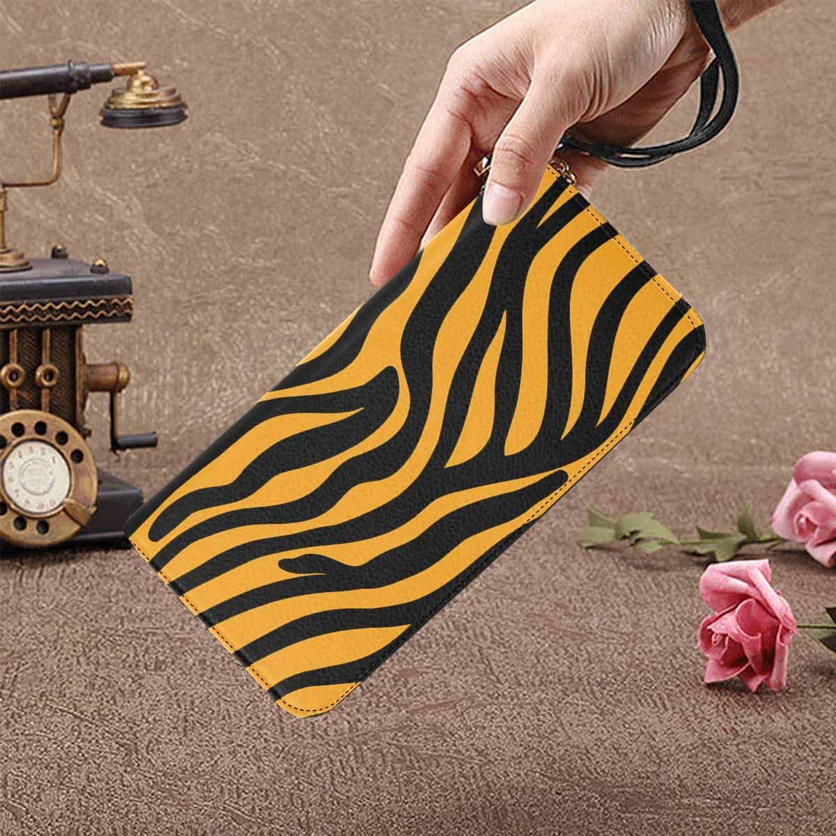 InterestPrint Womens Abstract Tiger Pattern Clutch Purse