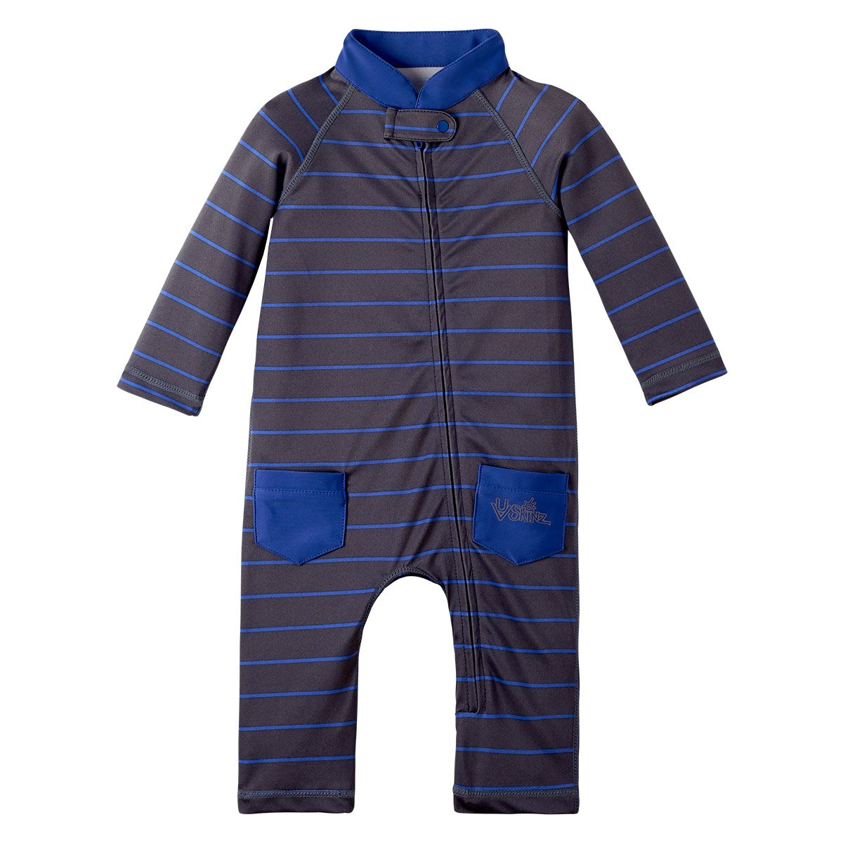 UV SKINZ UPF50+ Baby Boy Sun & Swim Suit-Charcoal Fun Stripe