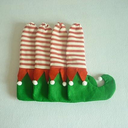Zantec Juguetes de Navidad, Decoracion Navideña, Lindo 4 Unids / set Mesa de Navidad