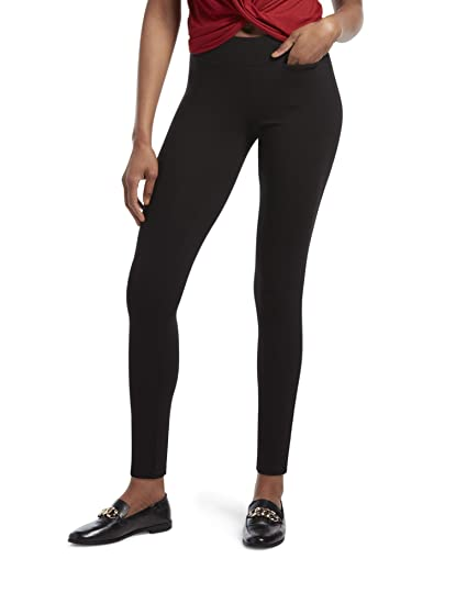 f9fc55036a7 HUE Women s Hold It Ultra Legging with Wide Waistband and Hidden Pocket   Amazon.in  Clothing   Accessories