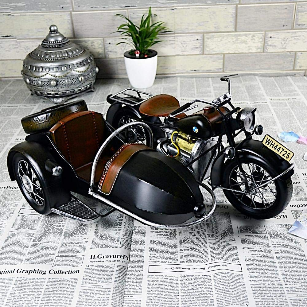 Gquan Decorative Ornaments Ornament,Iron Retro Eccentric Motorcycle Model Decoration Props 50x37x23 cm