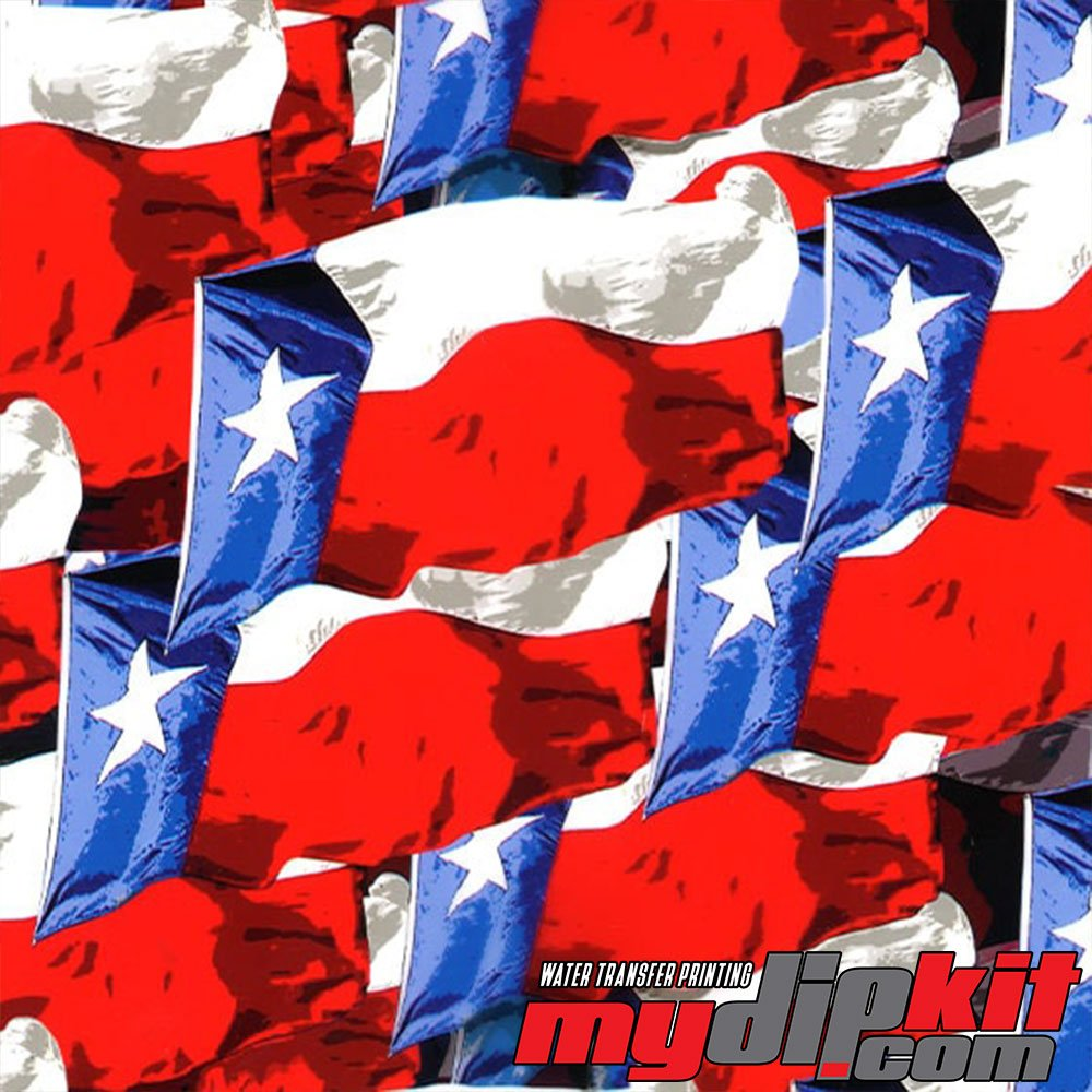 Water Transfer Printing Film - Hydrographic Film - Hydro Dipping - Texas Strong Flag -RC-405 by MyDipKit