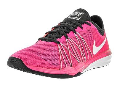 NIKE Women's Dual Fusion TR Hit Pink Blast/White Anthrct Blk Training Shoe  6 Women