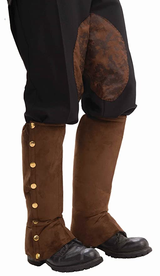 Men's Steampunk Goggles, Guns,  Accessories Mens Adult Steampunk Suede Spats Costume Accessory $11.00 AT vintagedancer.com
