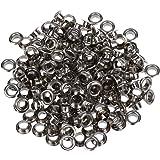 """TOOGOO(R) 200 Metal OEILLETS RONDS/oeillets/Rivets de couleur argent 8mm 0.32"""" Nouveau"""
