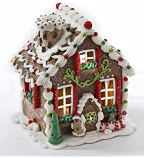 Amazon.com: Christmas Decorations - Lighted Gingerbread House with ...