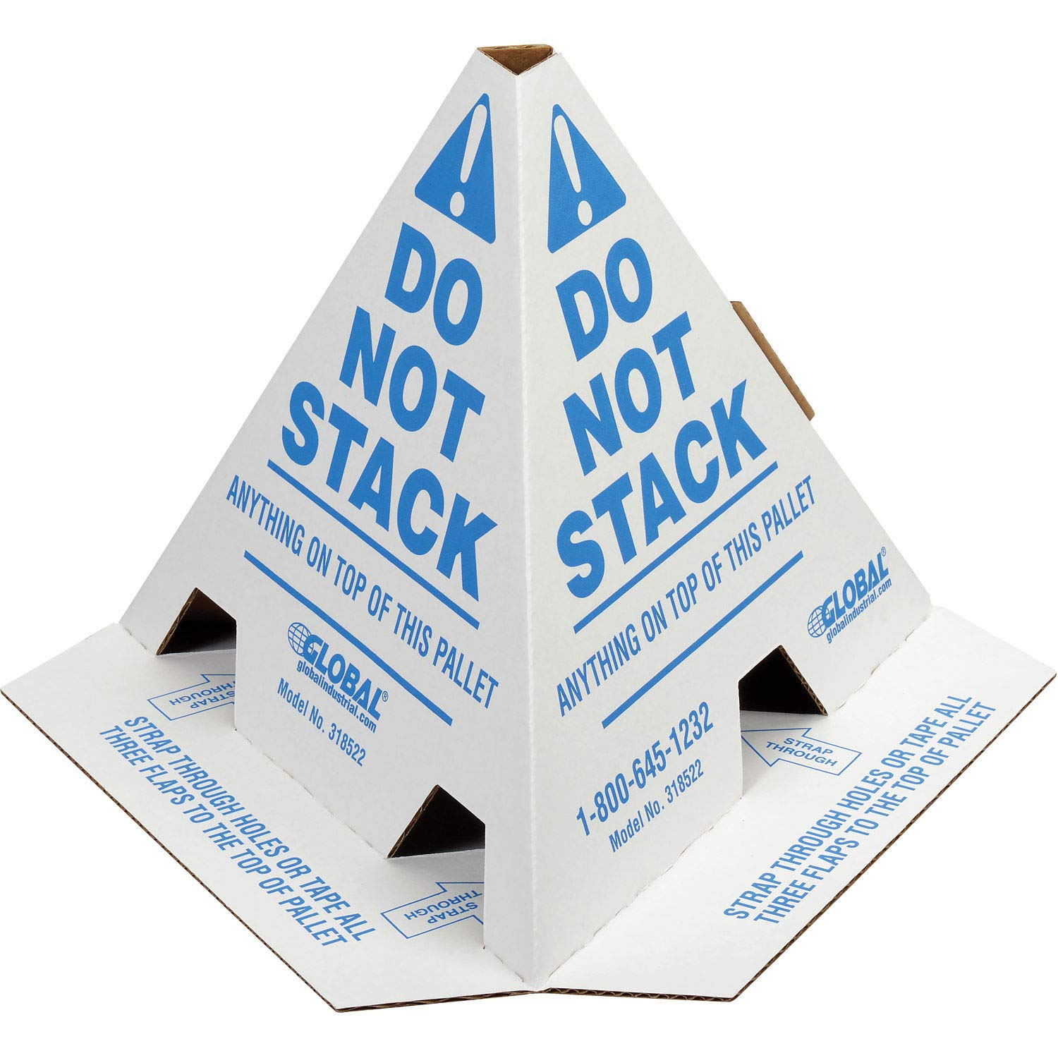 English French /& Spanish Top Pack SupplyNO Stack Print Pallet Cones 50 Cones per Case White with Red.