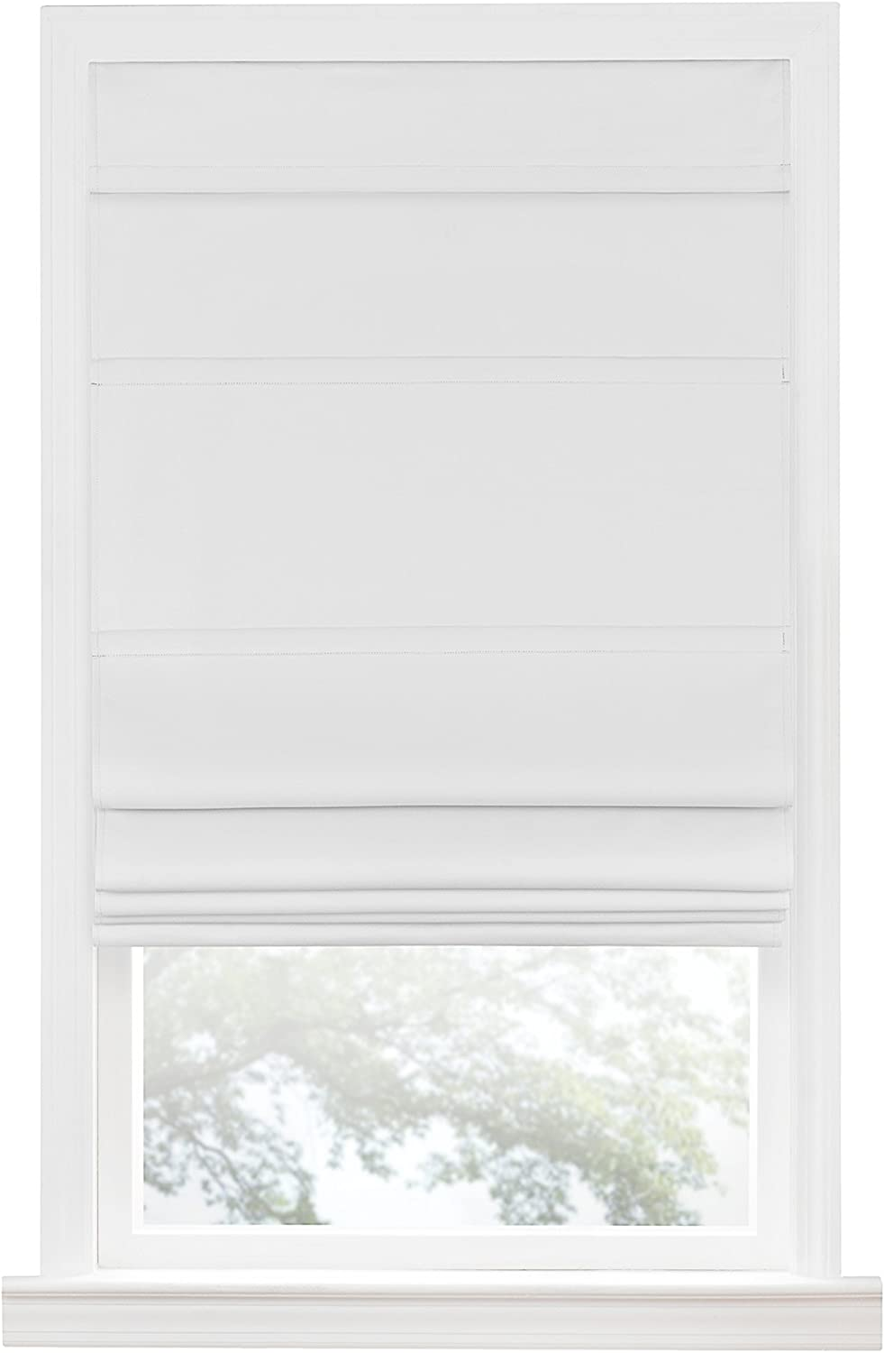 "Achim Home Furnishings Achim Home Imports Cordless Blackout Window Roman Shade, 35"" x 64"", White"
