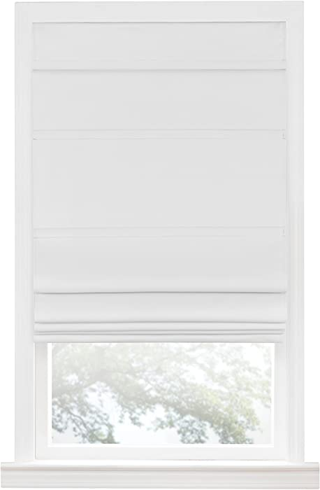 "Achim Home Furnishings Achim Home Imports Cordless Blackout Window Roman Shade, 27"" x 64"", White"