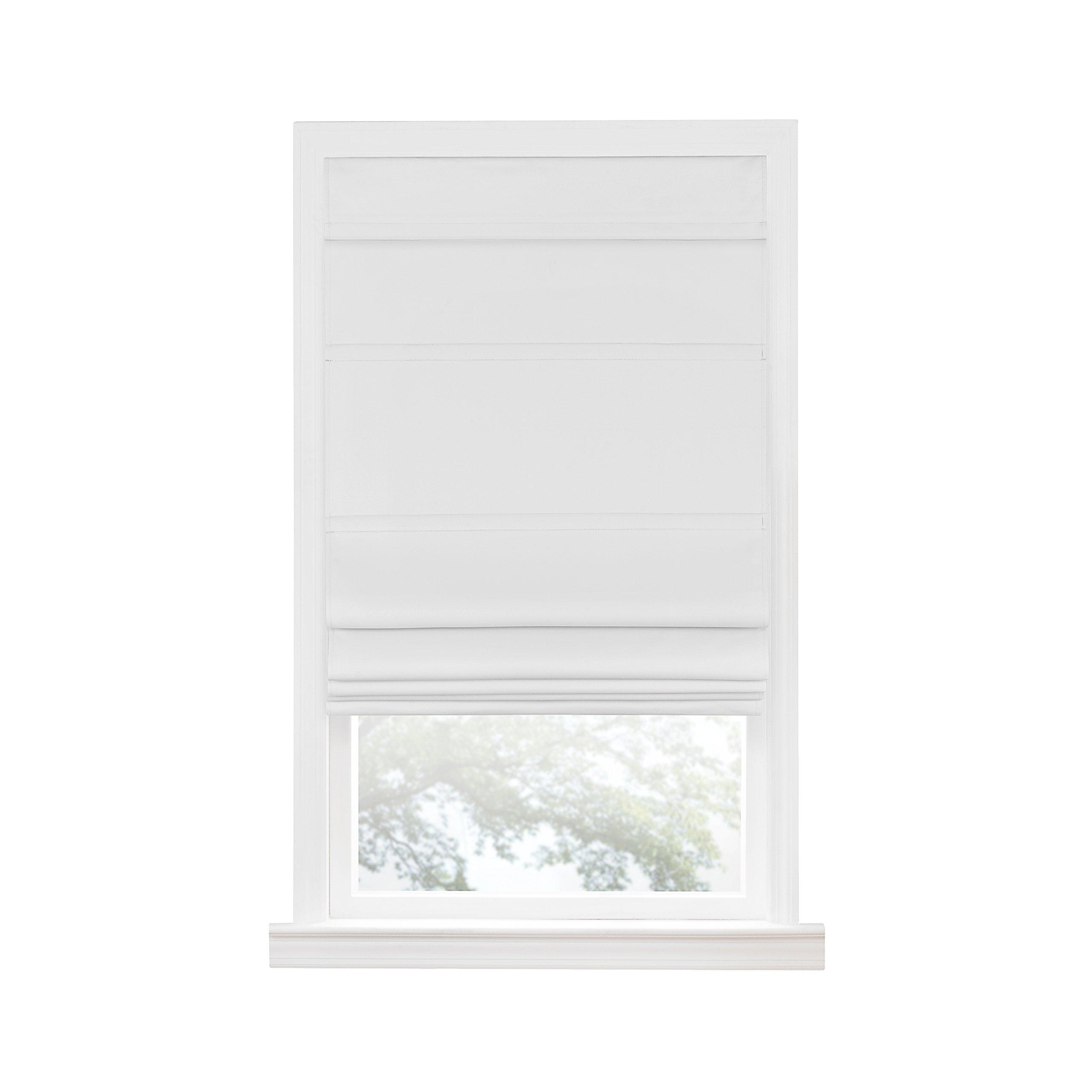 Achim Home Furnishings Achim Home Imports Cordless Blackout Window Roman Shade, 27'' x 64'', White by Achim Home Furnishings