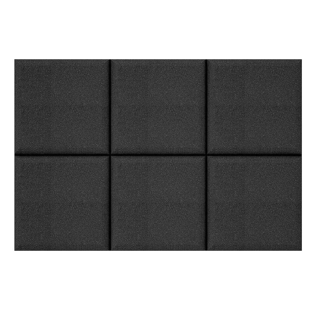 VACOUSTIC 6 Pack - Acoustic Studio Foam Round C-Panel 2'' X 12'' X 12'' Sound Absorber Soundproofing Wall Foam Acoustic Panels Noise Reduction Acoustic Treatment Acoustic Control Sound Dampening