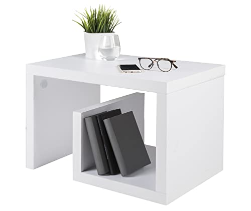 Coffee Table Layers White High Gloss Amazon Co Uk Kitchen: New Modern Design White High Gloss Coffee/Side Table With