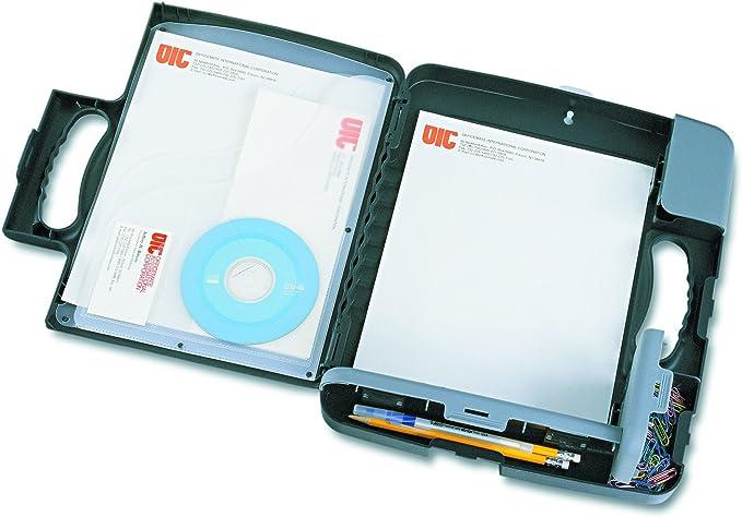 Box Clipboard Storage Organizer Slim Case Office Paper Letter Briefcase Storage
