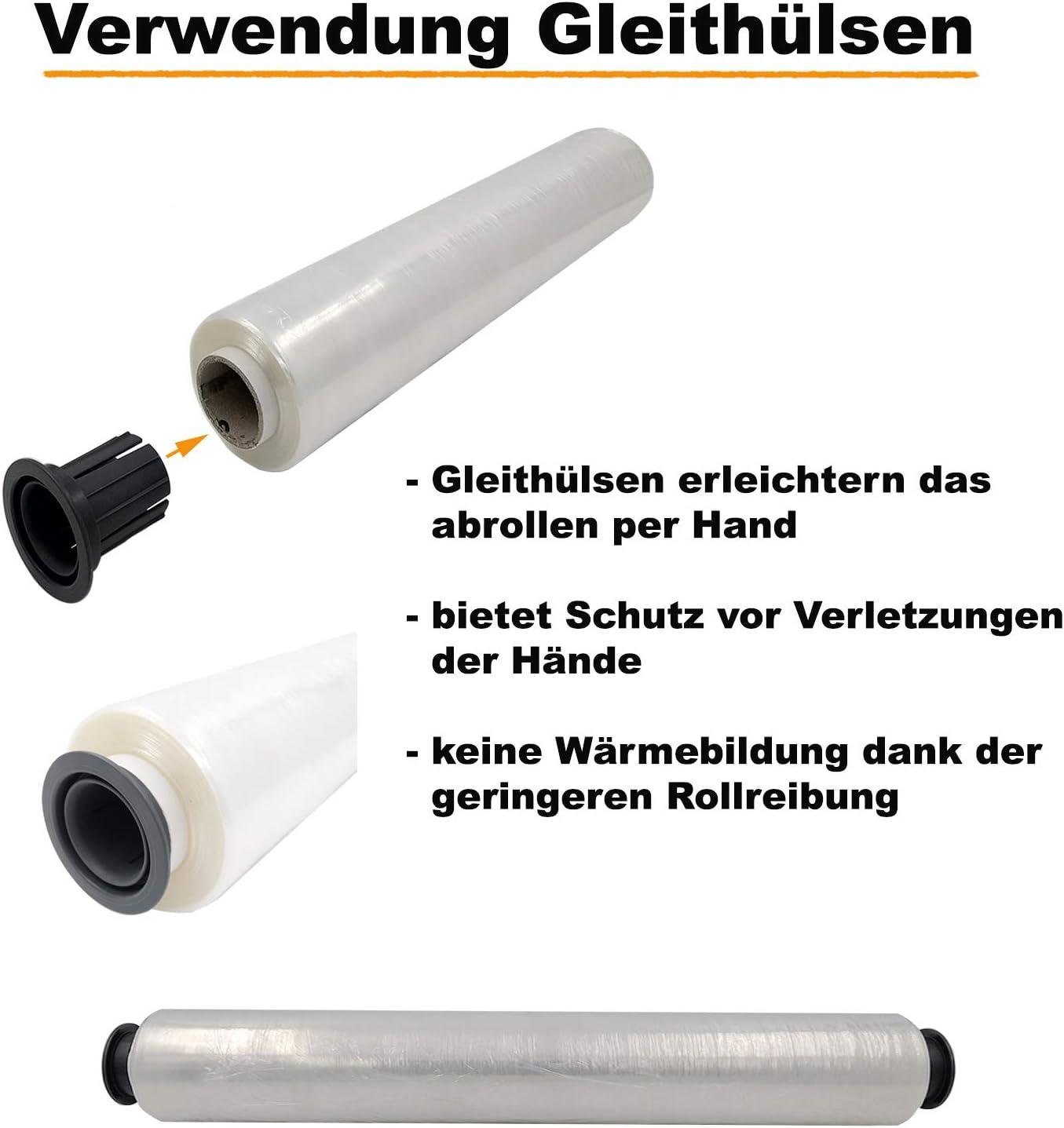 Verpacking Stretchfolie 17 my transparent 500mm x 300m 1 Rolle rei/ßfeste Umzugsfolie 1 Abroller rei/ßfeste Umzugsfolie