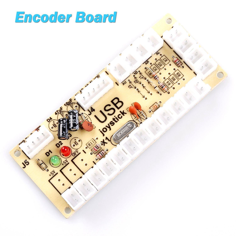 SODIAL 2X Codificador USB Arcade de retardo cero PC a palanca de mando para palanca de mando de 2 pines & 4.8MM Boton: Amazon.es: Electrónica
