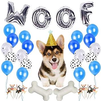 JOYMEMO Artículos para Fiestas de Cumpleaños para Perros ...