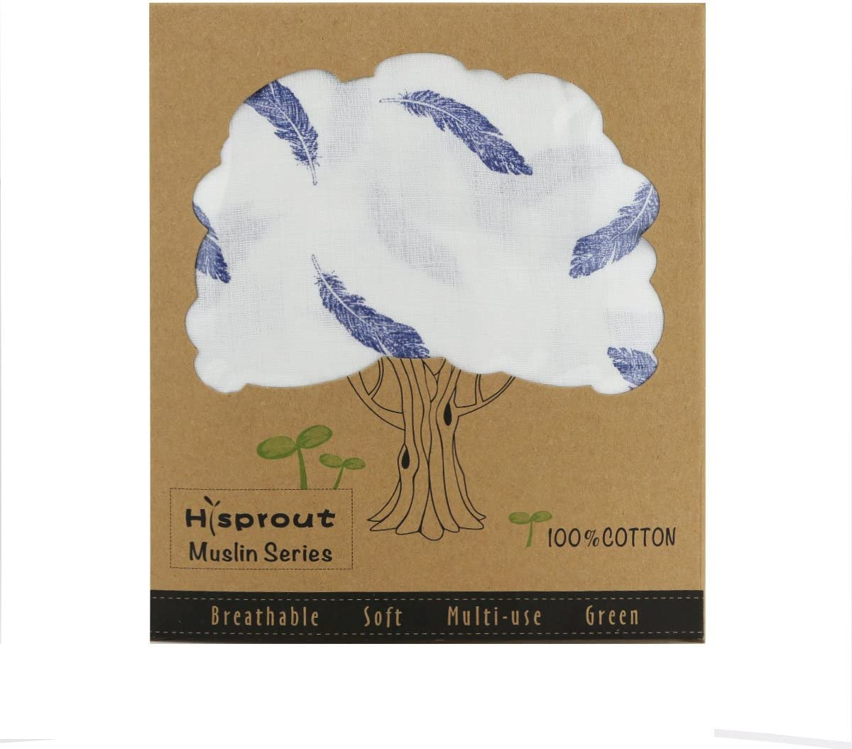 Hisprout Breathable Cotton Muslin Baby Car Seat Cover Canopy/& Nursing Cover,Special Feather