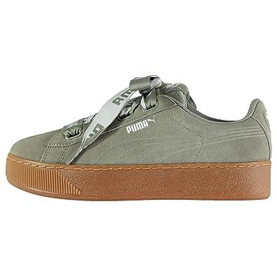 Puma Women s Vikky Platform Ribbon Bold Low-Top Sneakers  Amazon.co.uk   Shoes   Bags 4d6462de2