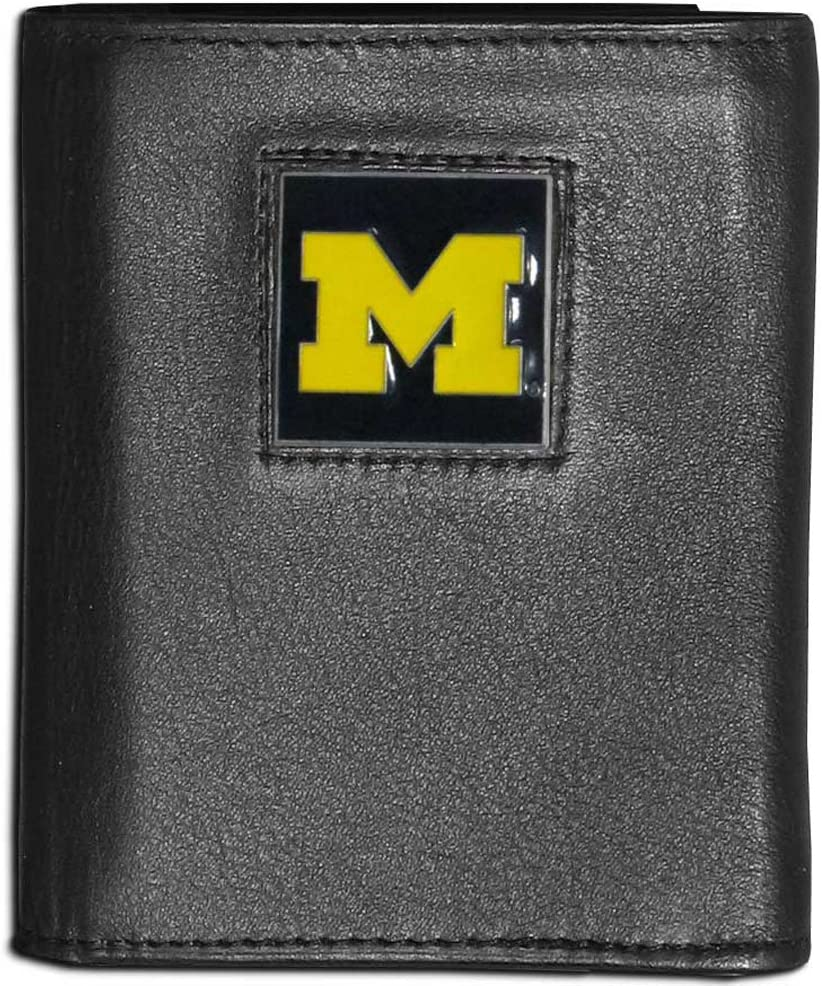Siskiyou Mens Deluxe Leather Tri-fold Wallet