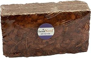 Orchid Nerd Premium Coconut Coir Fiber Husk Chips in a Brick, OMRI Listed for Organic in 500 Grams Block