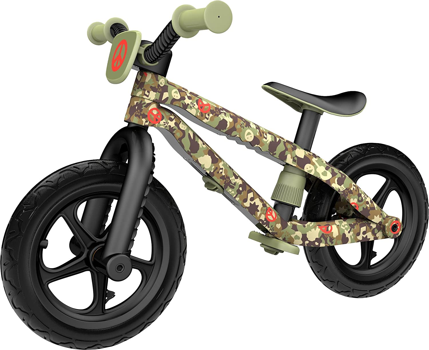 $54.13 Chillafish BMXie-RS: BMX Balance Bike with Airless RubberSkin Tires, Army of Love Edition