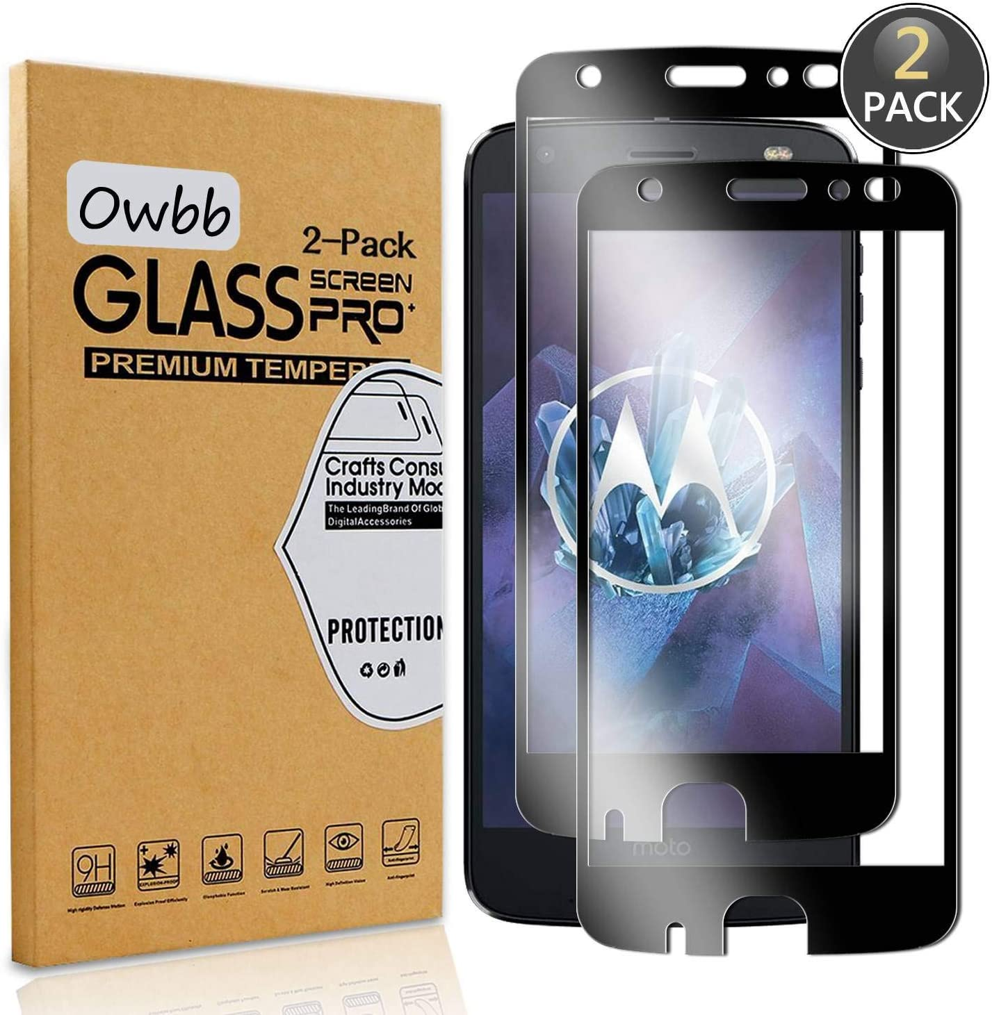 Owbb® Vidrio Templado Protector de Pantalla para Smartphone Full ...