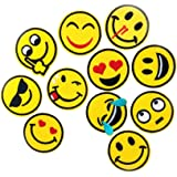 U-Sky Emoji Patch for Kids Clothing, Pack of 11pcs, Sew or Iron on Patches for Jackets, Jeans, Shirts, Backpacks