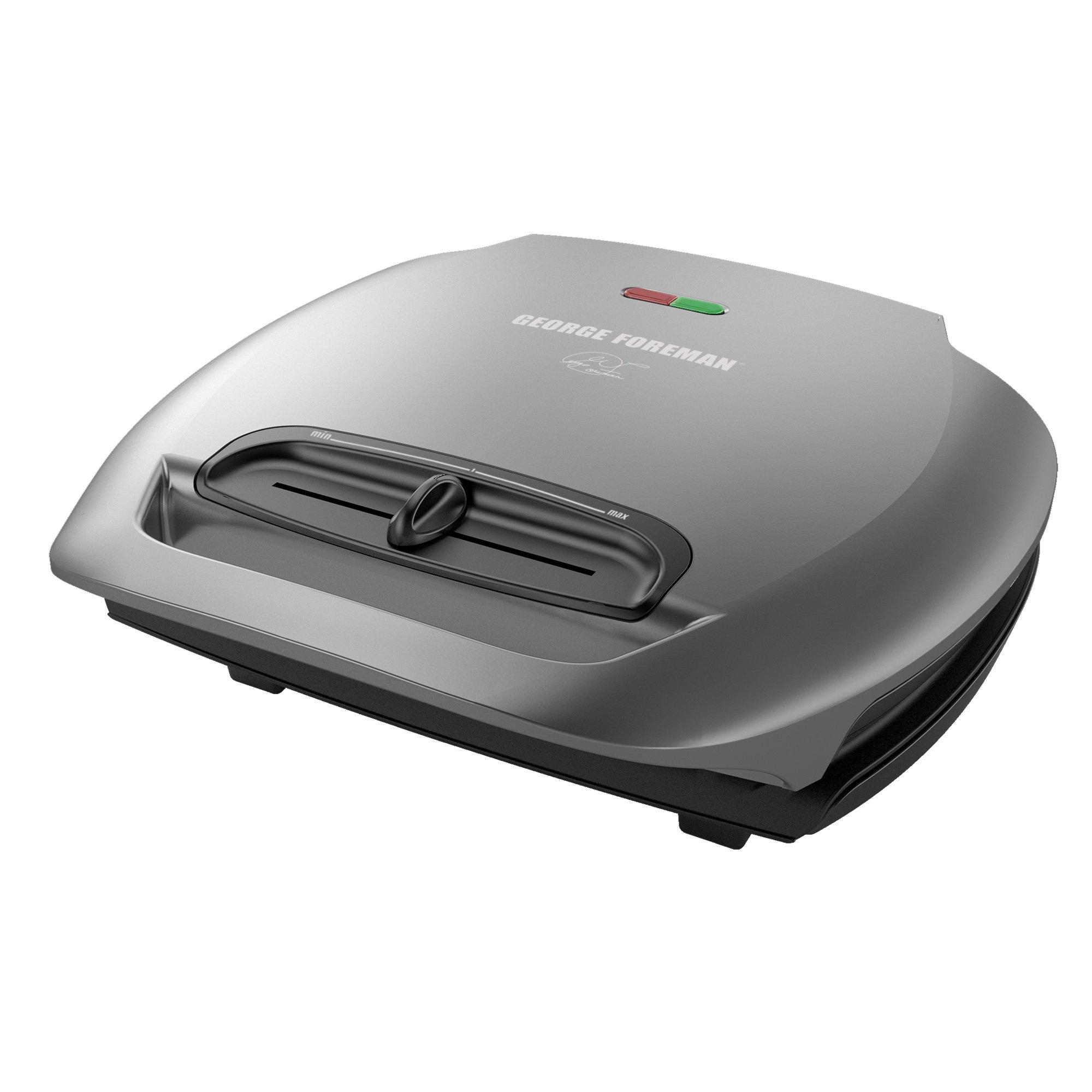 George Foreman 5-Serving Classic Plate Electric Indoor Grill and Panini Press, Platinum, GR2081HM