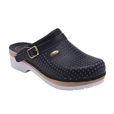 cd1a7a6f520204 Scholl Clogs Clog Supercomfort Blau 35: Amazon.fr: Chaussures et Sacs