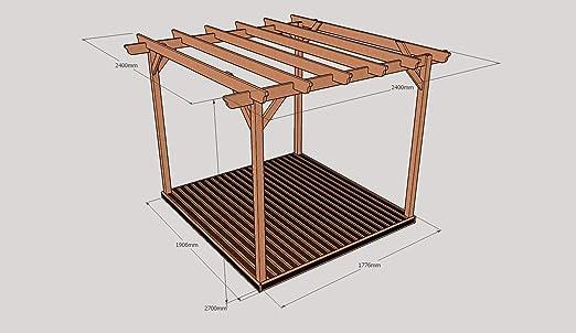 Kit de Pergola de madera y cubiertas: Amazon.es: Jardín