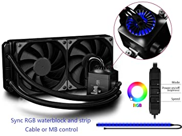 DEEPCOOL CAPTAIN 240EX RGB Water Cooling System CPU Cooler With RGB Lighting Strip Water Cooling Systems at amazon