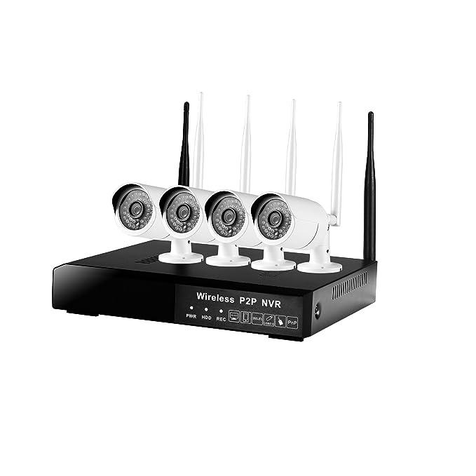 DOHAOOE Hi3520D 4CH Cámara de vigilancia inalámbrica 1.3MP 500m IPC WiFi Kit 72Mbps para el uso externo o doméstico: Amazon.es: Electrónica