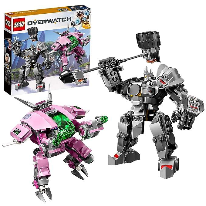 LEGO 75973 Overwatch D Va & Reinhardt Minifigures with Mech Suits,  Buildable Toys