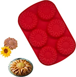 Handmade Soap Mould Sun Flower Shaped, Non-Stick Silicone Molds Dishwasher Safe&BPA Free Resin Making Kit for Chocolate Bombs Candy Handmade Soap Mould