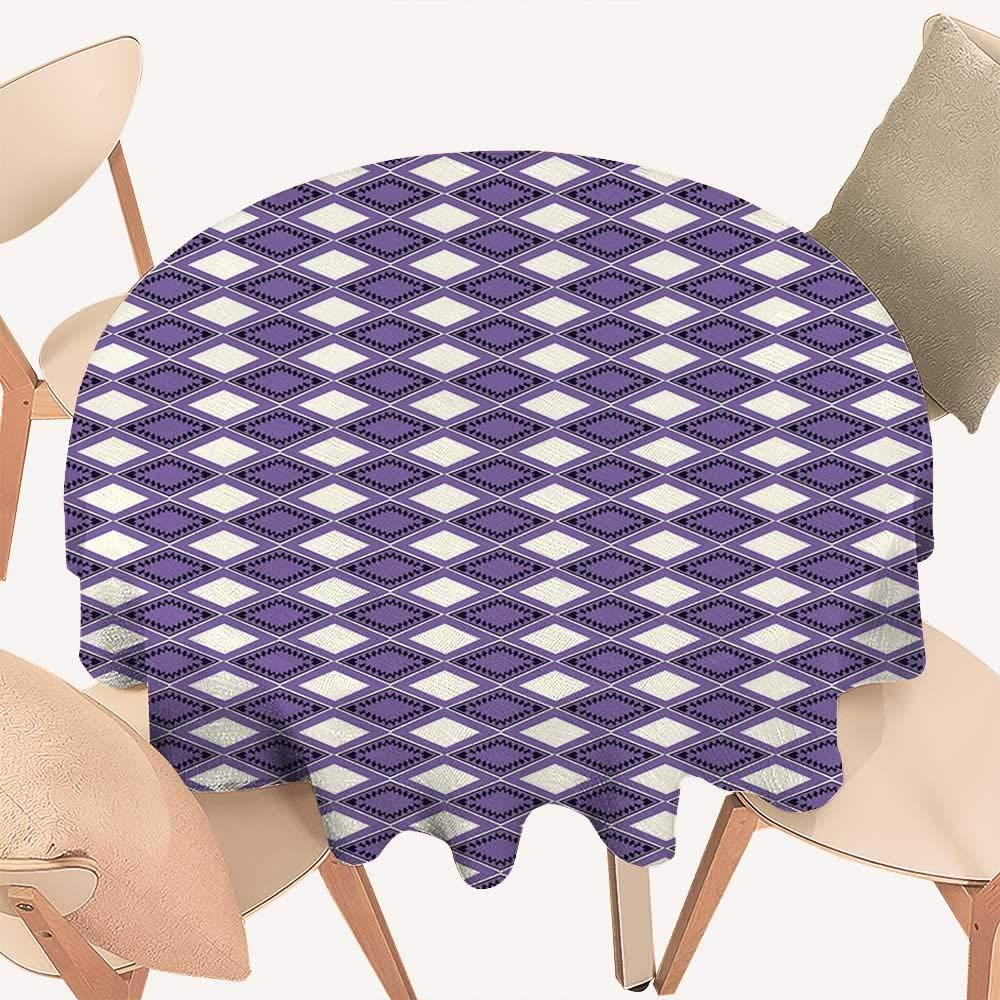 haommhome 幾何学模様 ピクニッククロス 幾何学模様 チェック柄 花柄 古代中東スタイル カデット ブルー バーミリオン ホワイト D 70