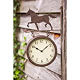 Cape Craftsmen Horse Outdoor Wall Clock and