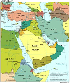 Amazon.com: Map Poster - Europe North Africa and The Middle East ...