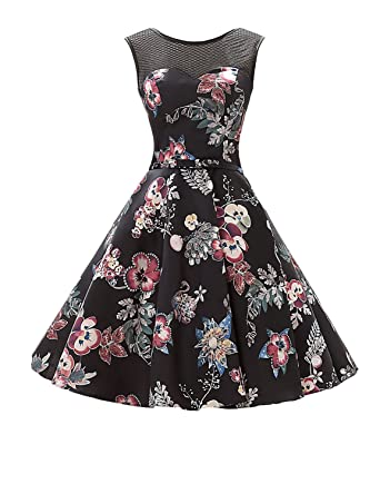 JoJoBridal Womens A Line Floral Print Short Prom Dresses Formal Gowns M157 at Amazon Womens Clothing store: