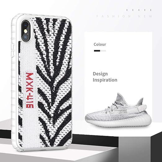 Alvyu Estuche Yeezy de Moda para iPhone XS MAX, PC Duro + Yeezy 350 Zapatillas de Deporte, Funda Protectora Protectora de Deporte para iPhone 6.5 Pulgadas,White: Amazon.es: Hogar