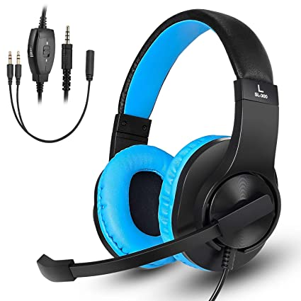 Gaming Headset for Xbox One, PS4, Nintendo Switch, DIWUER Stereo Bass  Surround Noise Cancelling Over Ear Headphones with Flexible Mic for Laptop  PC