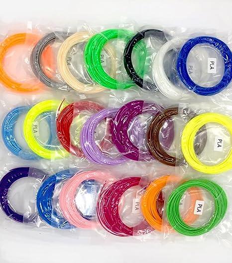3D Filamento 20 Colores 10M 1.75mm PLA Material Para Pen impresora 3D (32.8 Pie Longitudes de 656 Pies Lineales)