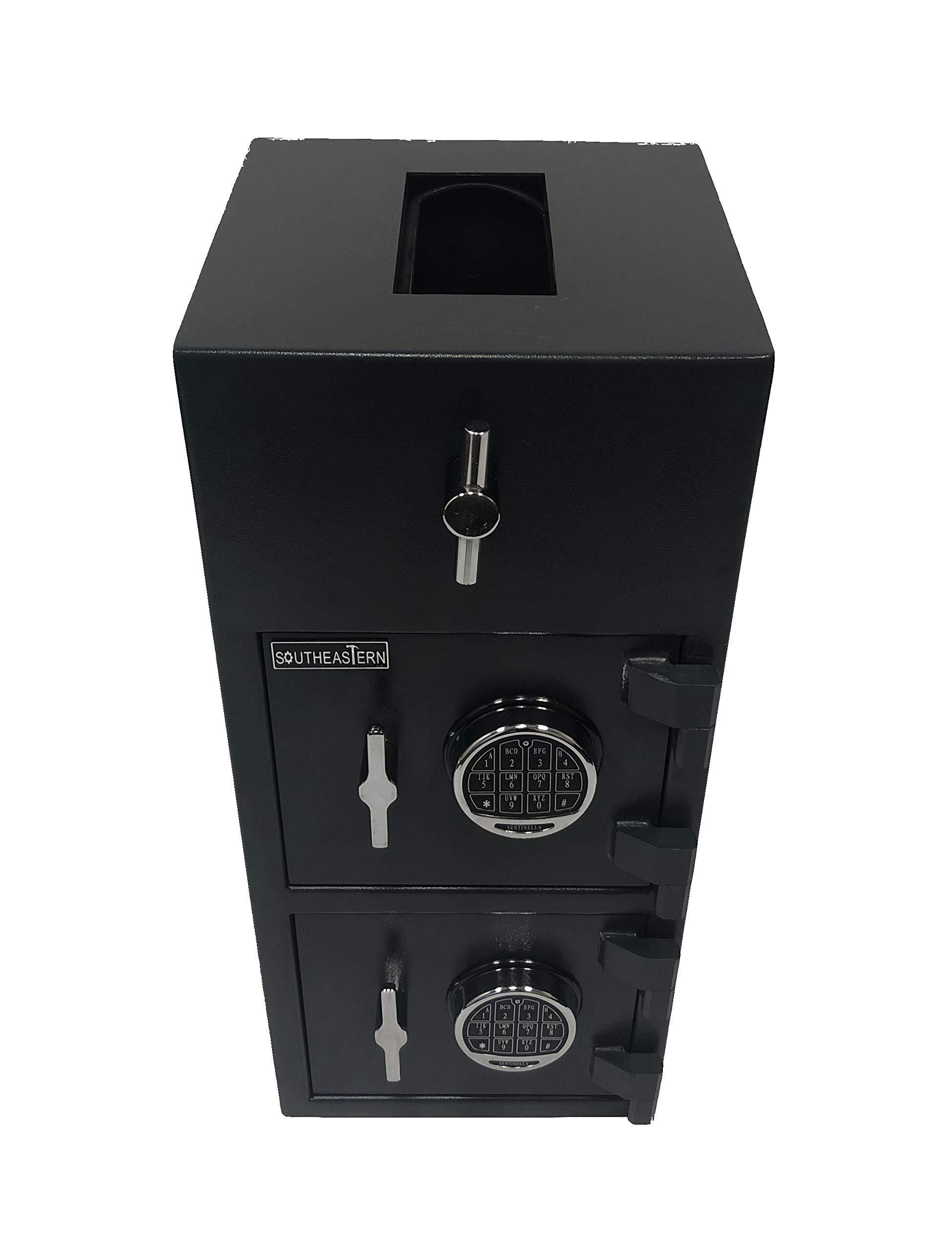 SOUTHEASTERN RH3214EE Top Loading Double Door Drop Slot Depository Safe with Quick Digital Lock
