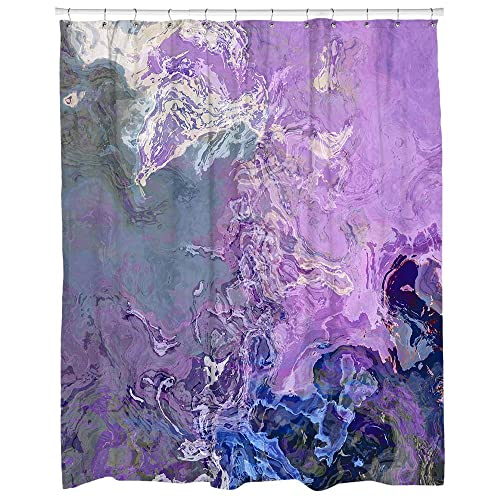 Abstract Art Shower Curtain In Lavender And Blue Lilac Festiva