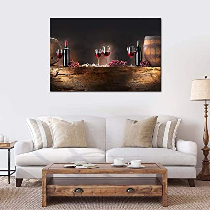 Wine Culture Canvas Wall Art - Ready to Hang - Backdrop Decor Picture for  Men & Women - Large Photo Print for Home Office, Living Room, Bedroom, ...